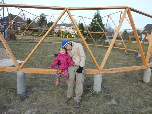 kacper and his daughter - Dome Greenhouse Designs