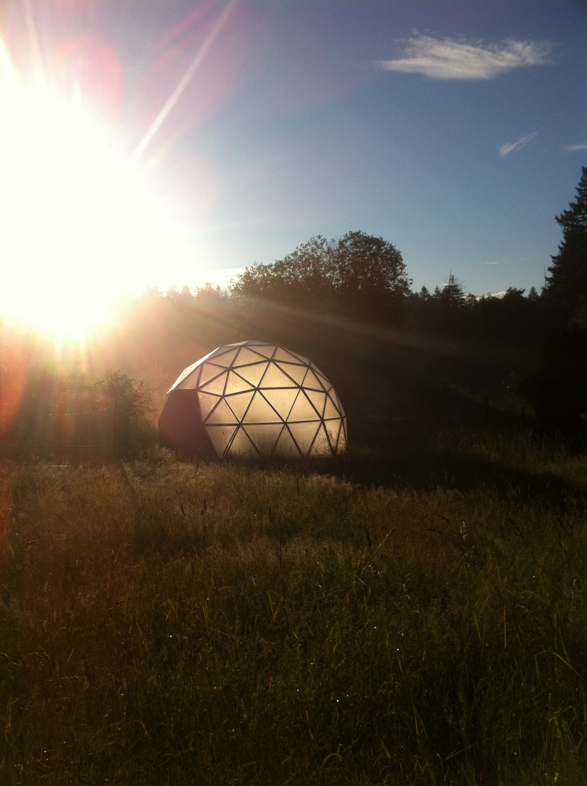 Eden Biodome Revolution Geodesic Greenhouse at Dawn!